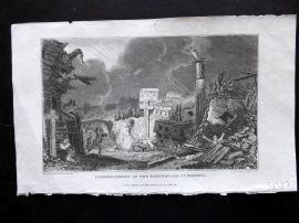 Gallery of Nature 1818 Commencement of the Earthquake at Messina, Scily Italy